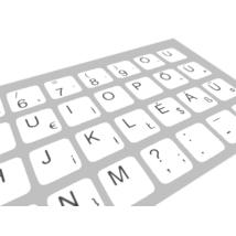Billentyűzet matrica - Magyar karakteres (fehér)